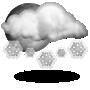Intervalos nubosos con nieve escasa